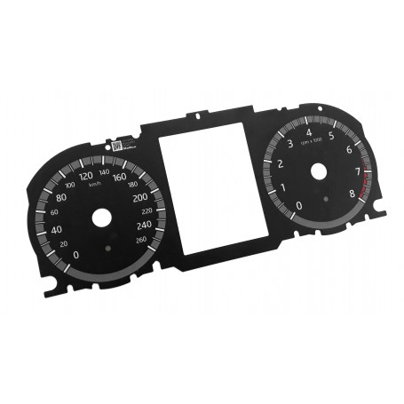 Land Rover Discovery - Replacement dial face gauge speedo - converted from MPH to Km/h