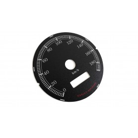 """Harley Davidson Dyna – 4"""" (80mm) replacement instrument cluster speedo dial"""