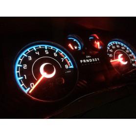 Hummer H3 - plasma tacho glow gauges tachoscheiben dials - converted from MPH to Km/h