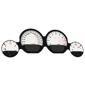 Dodge Challenger SRT 2011-2014 - replacement tacho dials, face counter gauges MPH to km/h
