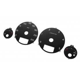 Volvo XC90 - Replacement tacho counter dials from MPH to km/h