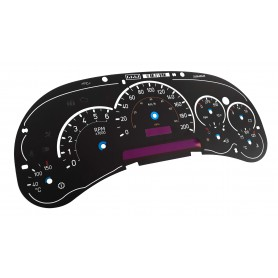 CADILLAC ESCALADE - Replacement tacho dials, face counter gauges, faces - converted from MPH to Km/h