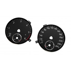 Volkswagen Passat B6 B7 Alltrack - Replacement tacho dials - converted from MPH to KM/H