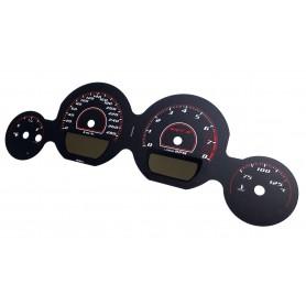 Dodge Challenger 2011-2014 - zamiennik tarcz licznika, zegary z MPH na km/h wzór 3