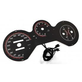 Fiat Barchetta wzór 3 tarcze licznika zegary INDIGLO