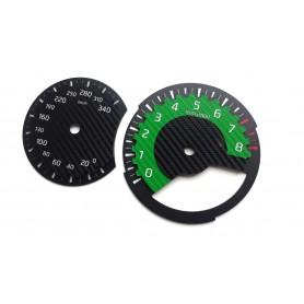 Nissan GT-R GTR Nismo GREEN EDITION - zamiennik standardowych tarcz licznika, zegary