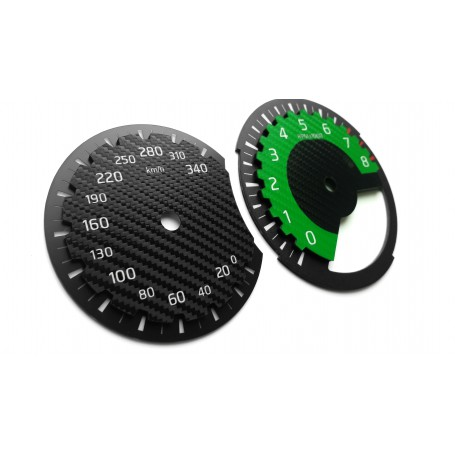 Nissan GT-R GTR GREEN EDITION conversion dials from MPH to KMH tacho tachometer gauges faces Replacement