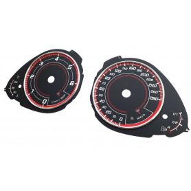 Audi A4 (B8) , Audi Q5 - Custom replacement tacho dials, counter speedo face gauges