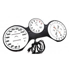 Fiat Barchetta wzór 4 tarcze licznika zegary INDIGLO