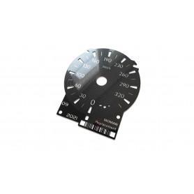Lexus RCF - tarcze licznika zegary zamiennik z mil na kilometry