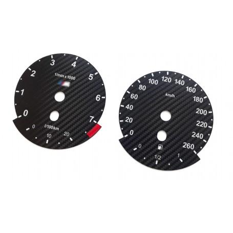BMW E90, E92, E93 - Replacement tacho dials, instrument cluster gauge - Custom Carbon