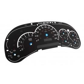 Hummer H2 - tarcze licznika, wskaźniki, zegary z MPH na km/h