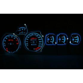 Dodge Stealth świecące tarcze licznika INDIGLO