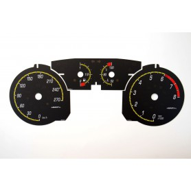 Fiat Bravo 2 - replacement dials in Abarth style