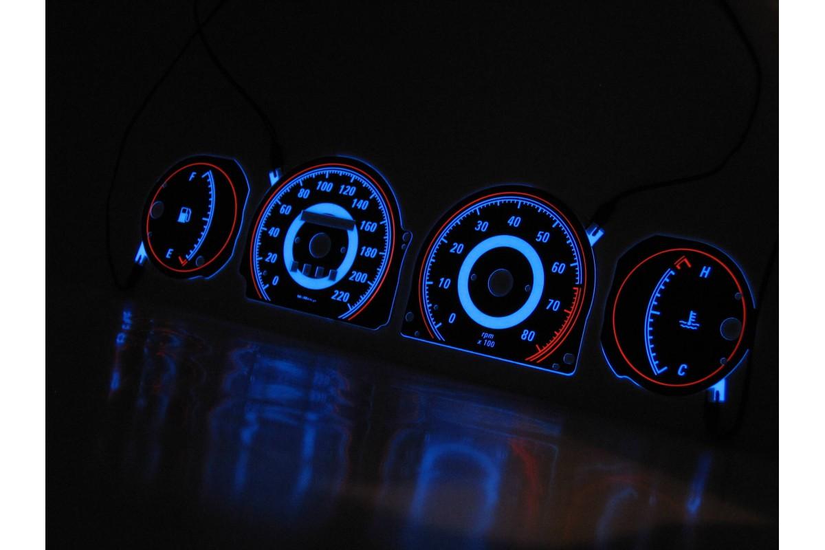 Details about Fiat Bravo, Brava, Marea (type 3) design 1 glow gauges dials  plasma dials kit ta