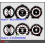 Fiat Punto 1 design 1 PLASMA TACHO GLOW GAUGES TACHOSCHEIBEN DIALS