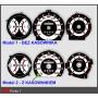 Fiat Punto 1 design 2 PLASMA TACHO GLOW GAUGES TACHOSCHEIBEN DIALS