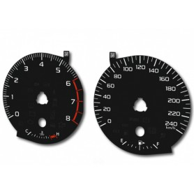 Subaru Outback V / Legacy V - Replacement tacho dials - converted from MPH to Km/h