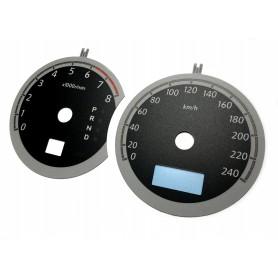 Subaru Legacy 4 - Zamiennik tarcz licznika z MPH na km/h