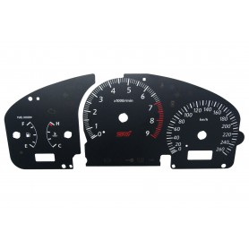 Subaru Impreza (2000-2007) - Replacement dial - converted from MPH to Km/h