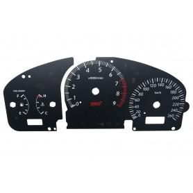 Subaru Impreza (2000-2007) - zamiennik tarcz licznika z MPH na km