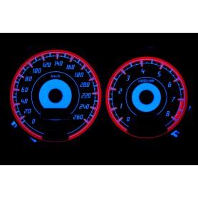 Subaru Impreza 1996-2000 wzór 2 świecące tarcze licznika INDIGLO