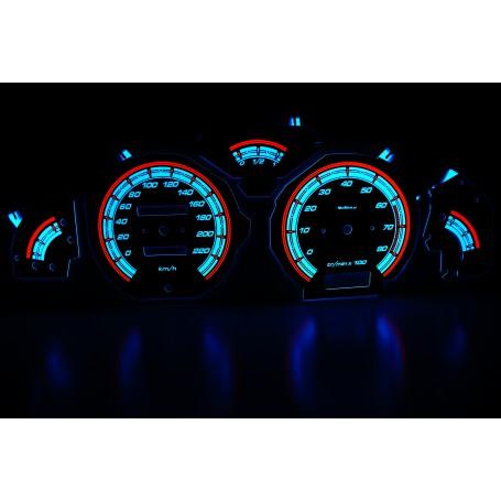 Peugeot 106 świecące tarcze licznika INDIGLO