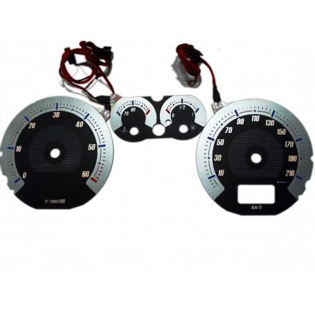 Peugeot 307 design 2 plasma tacho glow gauges tachoscheiben dials