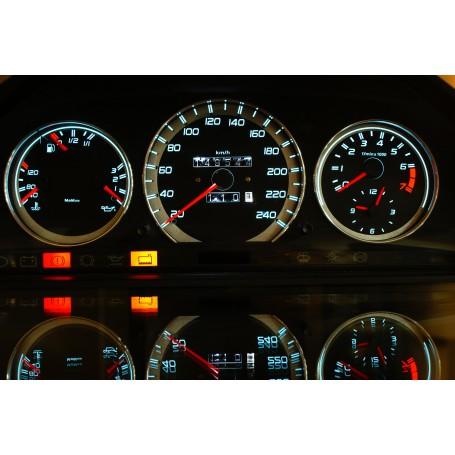 Mercedes W126 design 1 PLASMA TACHO GLOW GAUGES TACHOSCHEIBEN DIALS