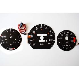 Mercedes 190 (W201) Indiglo plasma dials tacho design 2
