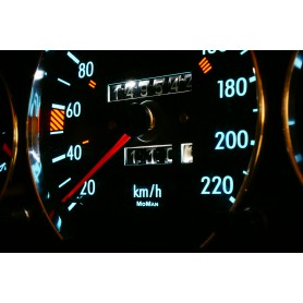 Mercedes W126 indiglo plasma dials tacho design 2