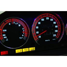 Mercedes W124 design 4 PLASMA TACHO GLOW GAUGES TACHOSCHEIBEN DIALS
