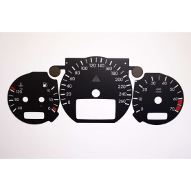Mercedes W210 after lifting - Replacement tacho dial - converted from MPH to Km/h