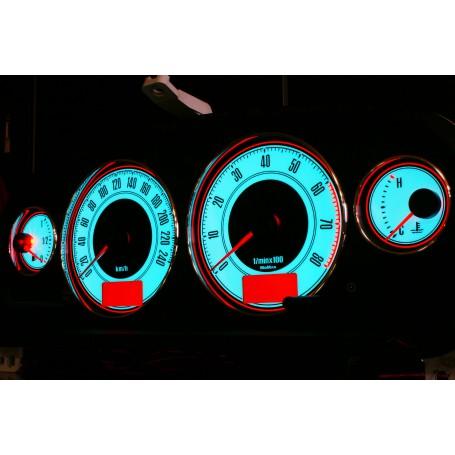 Toyota Avensis 1gen. wzór 2 świecące tarcze licznika INDIGLO