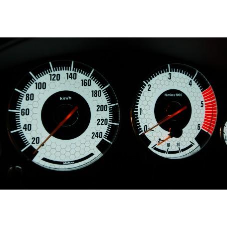 BMW E38 Wzór 3 świecące tarcze licznika INDIGLO