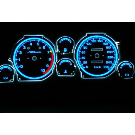Toyota Celica IVgen. T16 świecące tarcze licznika INDIGLO