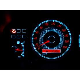 Toyota Corolla E11 wzór 2 świecące tarcze licznika INDIGLO