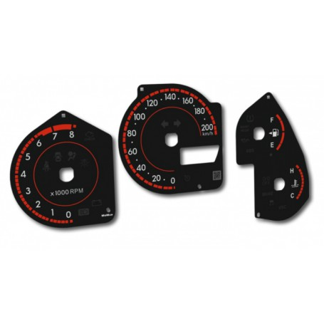 Toyota Matrix 1 (2001-2008) Replacement dial - converted from MPH to Km/h