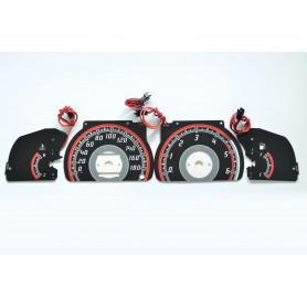 Toyota Hilux / 4 Runner design 1 PLASMA TACHO GLOW GAUGES TACHOSCHEIBEN DIALS