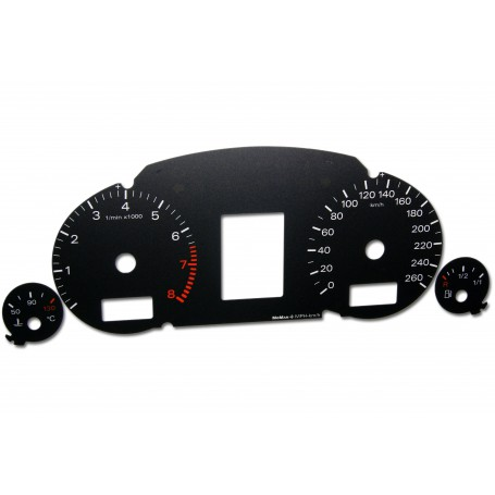 Audi A4 (B6 i B7) Replacement dial - converted from MPH to Km/h