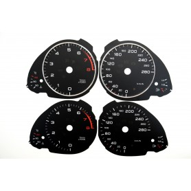 Audi A5 Replacement dial - converted from MPH to Km/h