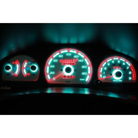 Toyota Starlet / Glanza 1996-1999 świecące tarcze licznika INDIGLO