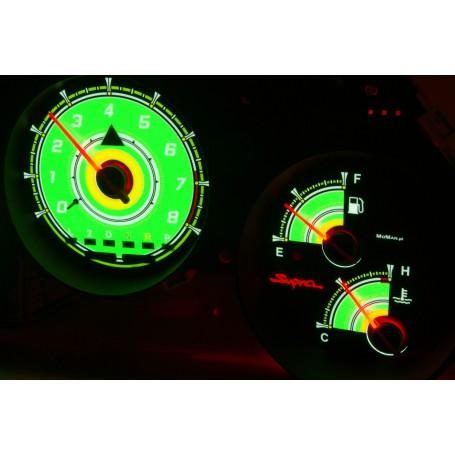 Toyota Supra MK4 wzór 3 świecące tarcze licznika INDIGLO