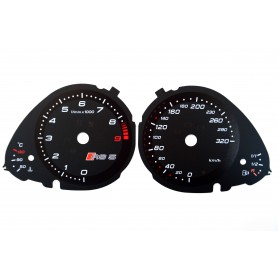 Audi A5 RS 5 Replacement dial - converted from MPH to Km/h