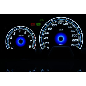 Honda Accord Coupe 1998-2002 PLASMA TACHO GLOW GAUGES TACHOSCHEIBEN DIALS