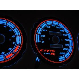 Honda Civic 1992-1995 wzór 6 świecące tarcze licznika INDIGLO