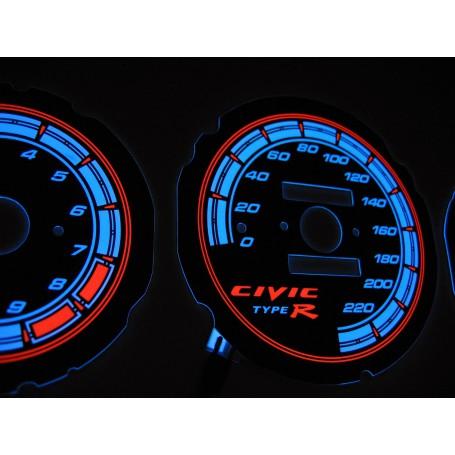 Honda Civic 1992-1995 design 6 PLASMA TACHO GLOW GAUGES TACHOSCHEIBEN DIALS