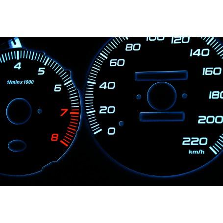 Honda Civic 1996-2000 design 1 PLASMA TACHO GLOW GAUGES TACHOSCHEIBEN DIALS