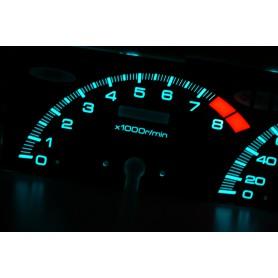 Honda Prelude 4 gen. - original design PLASMA TACHO GLOW GAUGES TACHOSCHEIBEN DIALS