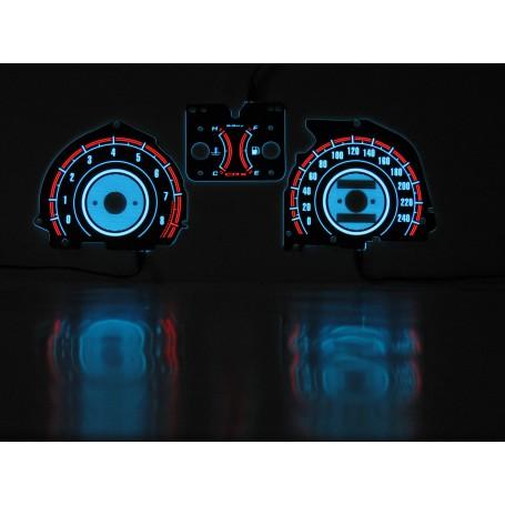Honda CRX 1988-1990 wzór 1 świecące tarcze licznika zegary INDIGLO